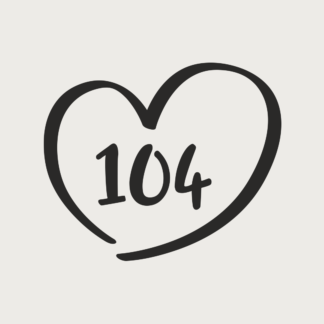 Størrelsesmærker hjerte strygestof
