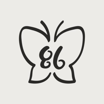 Størrelsesmærker sommerfugl strygestof