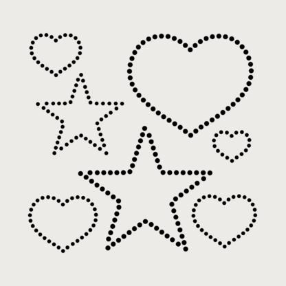 hjerter-stjerner rhinsten