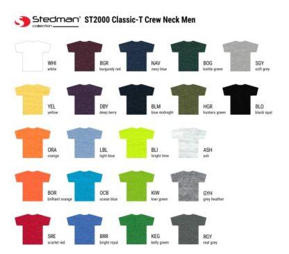 T-shirt farver